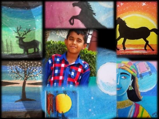 हिसार के तेरह वर्षीय शिवम् सुरेश कुमार ने कोरोना संकट को को अपनी तूलिकाओं में सहेज रखा है।