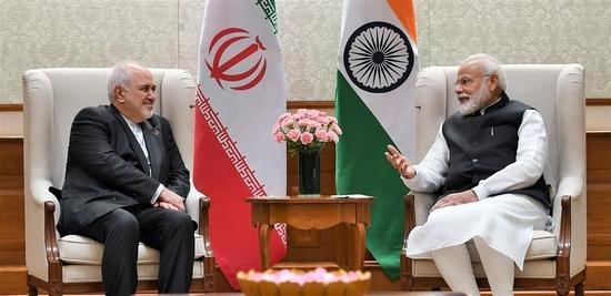 ईरान के विदेश मंत्री डॉ. जव्वाद जरीफ ने प्रधानमंत्री- नरेन्द्र मोदी से मुलाकात की