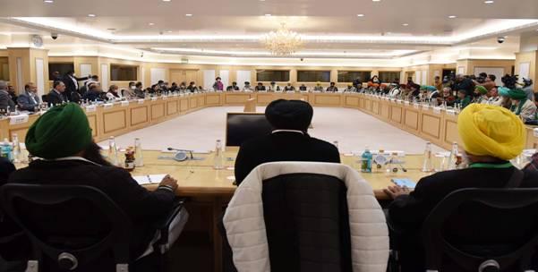 सरकार और किसान संगठनों के बीच आज नई दिल्ली में ग्यारहवें दौर की बैठक हुई: कृषि एवं किसान कल्याण मंत्रालय