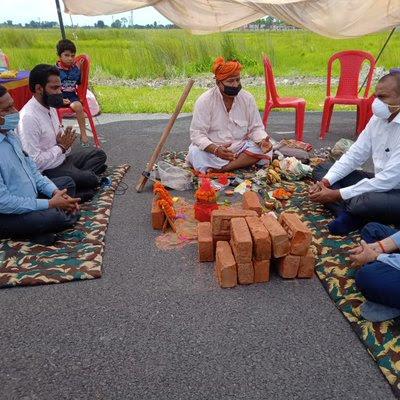 उत्तर प्रदेश: कुशीनगर अंतर्राष्ट्रीय हवाईअड्डा पर बनने वाली न्यू टर्मिनल बिल्डिंग का भूमि पूजन