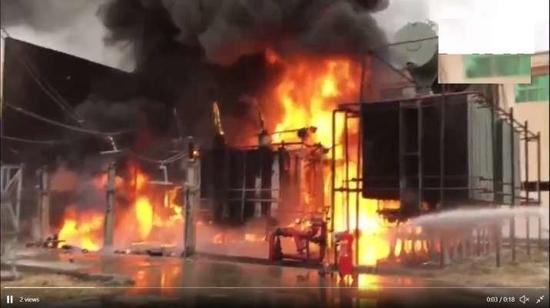 नोएडा सेक्टर.148 में नोएडा पावर कंपनी लिमिटेड (NPCL) के सब स्टेशन में लगी आग