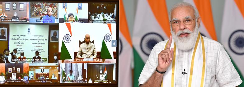 NEP-2020 गवर्नर कांफ्रेंस के उद्घाटन सत्र में प्रधानमंत्री के सम्बोधन का मूल पाठ