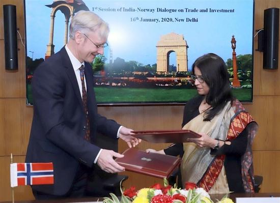 व्यापार और निवेश पर भारत.नार्वे वार्ता का पहला सत्र दिल्ली में आयोजित