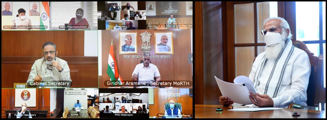 प्रधानमंत्री ने ऑक्सीजन की आपूर्ति और उपलब्धता पर उच्चस्तरीय बैठक की