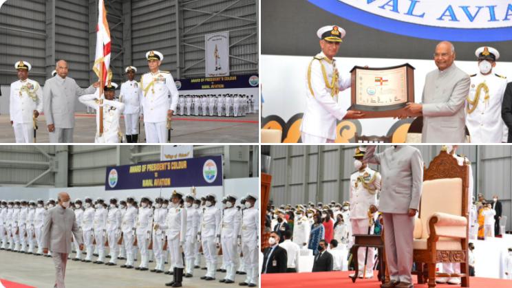 भारतीय नेवल एविएशन को ध्वज प्रदान किए जाने के अवसर पर राष्ट्रपति श्री राम नाथ कोविंद का संबोधन